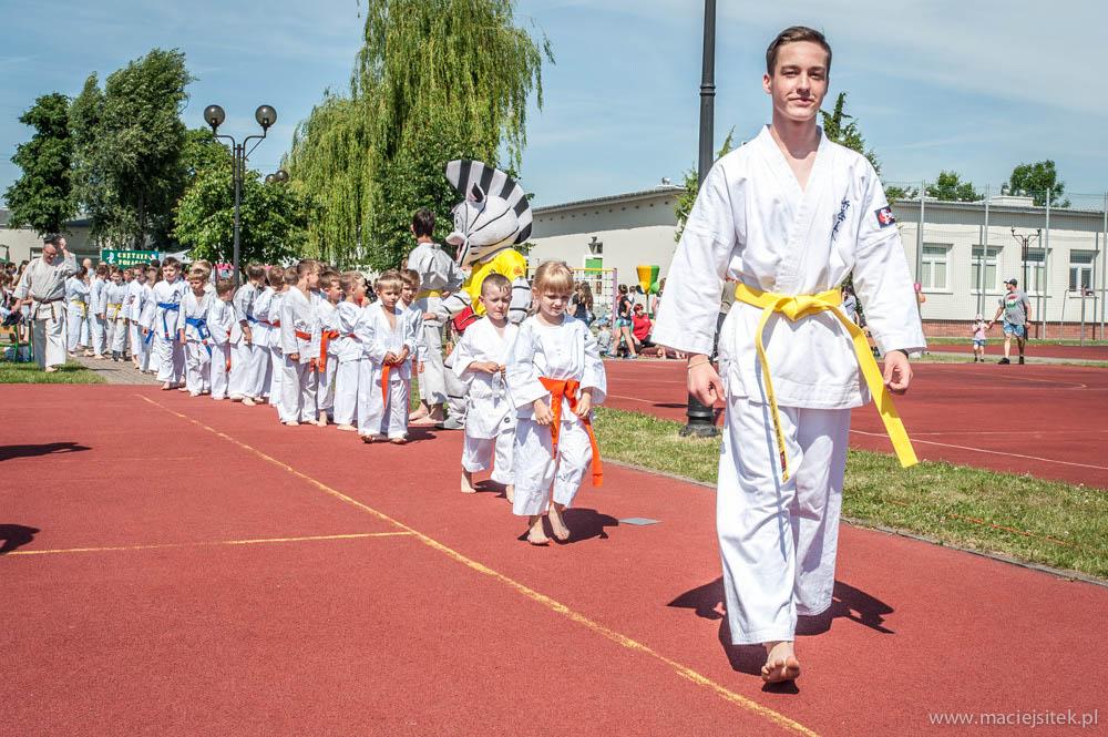 Pokaz karate w SP 231