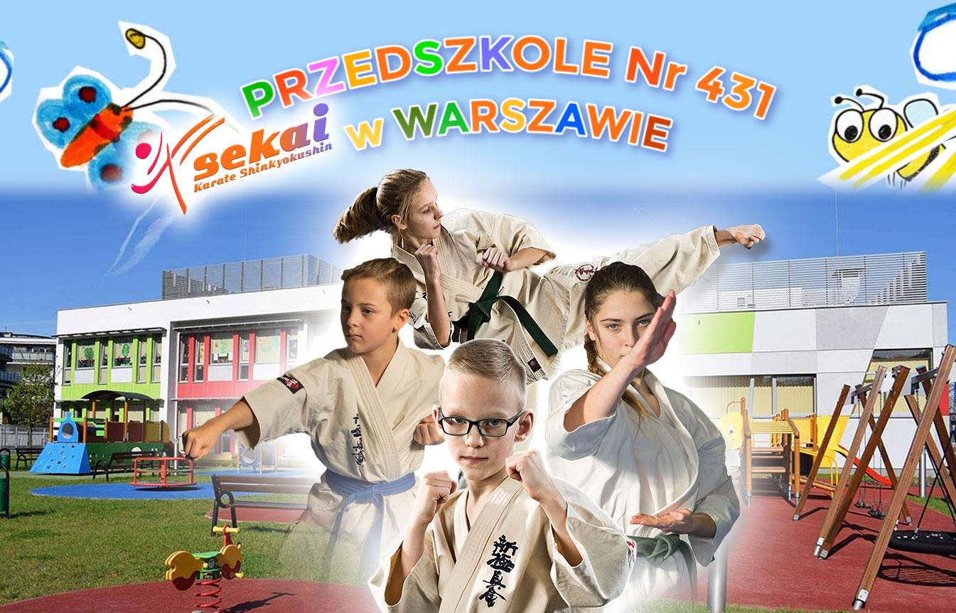 Przedszkole nr 431 – Zajęcia Karate w Sekai KIDS