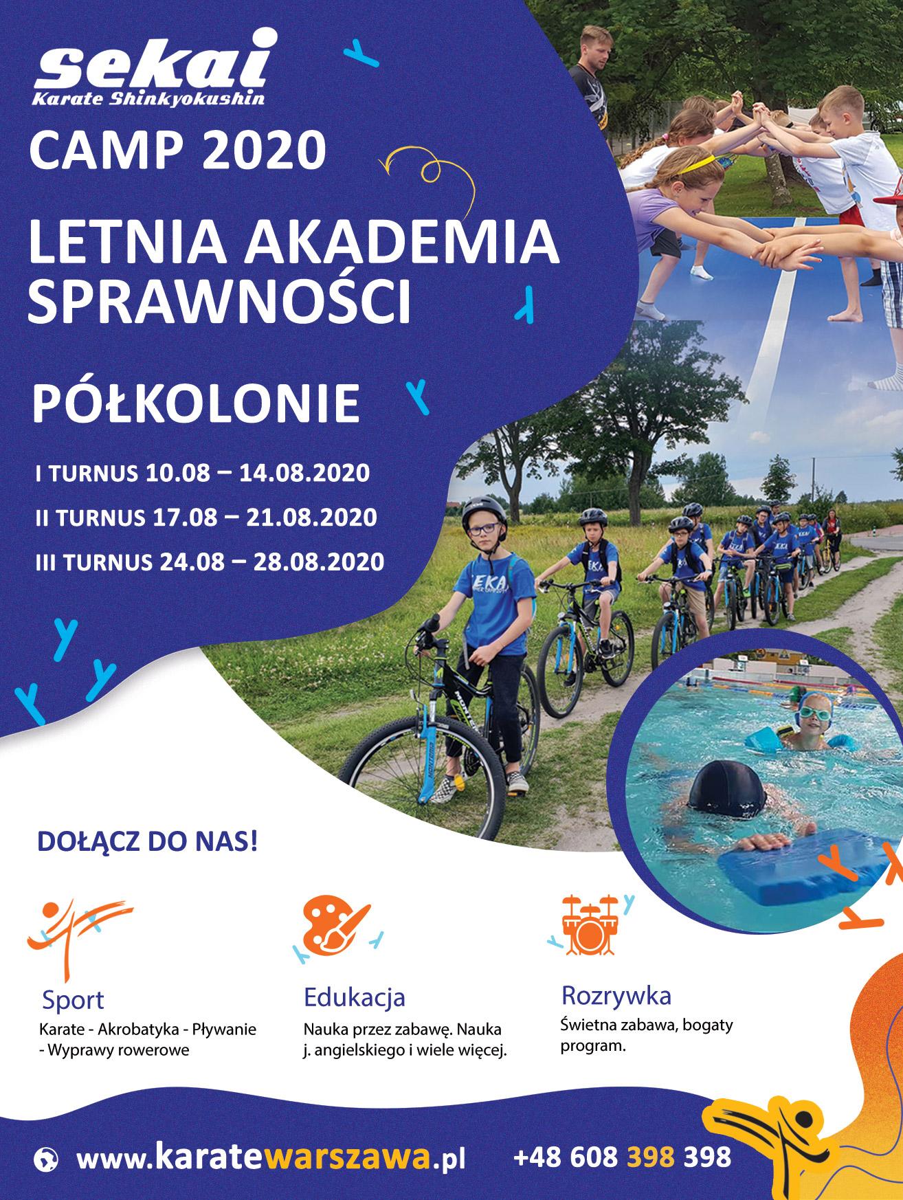 Sekai Camp 2020 – Letnia Akademia Sprawności – Półkolonie