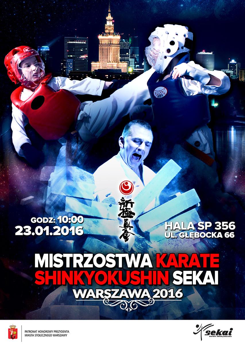 Mistrzostwa Karate Shinkyokushin Sekai – Warszawa 2016