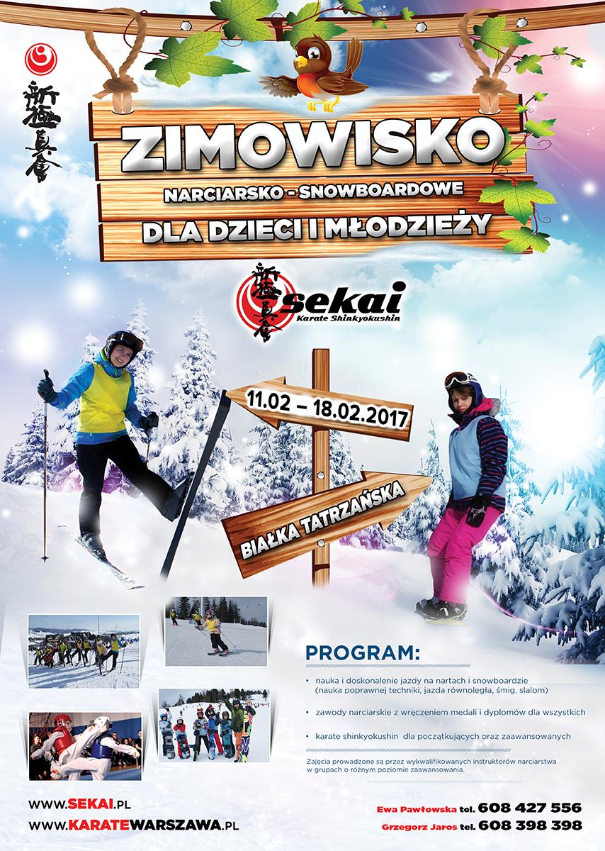 Obóz narciarsko – snowboardowy<BR> 11– 18.02.2017